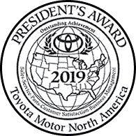 Family Toyota of Burleson 2019 President's Award Badge