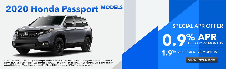 2020 Honda Passport Models