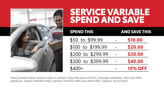 Service Variable Spend and Save
