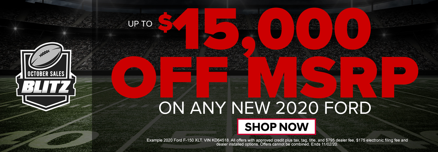Up to $15,000 off MSRP