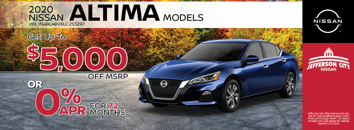 2020 Nissan Altima | Get Up to $5000 off MSRP | Jefferson City, MO