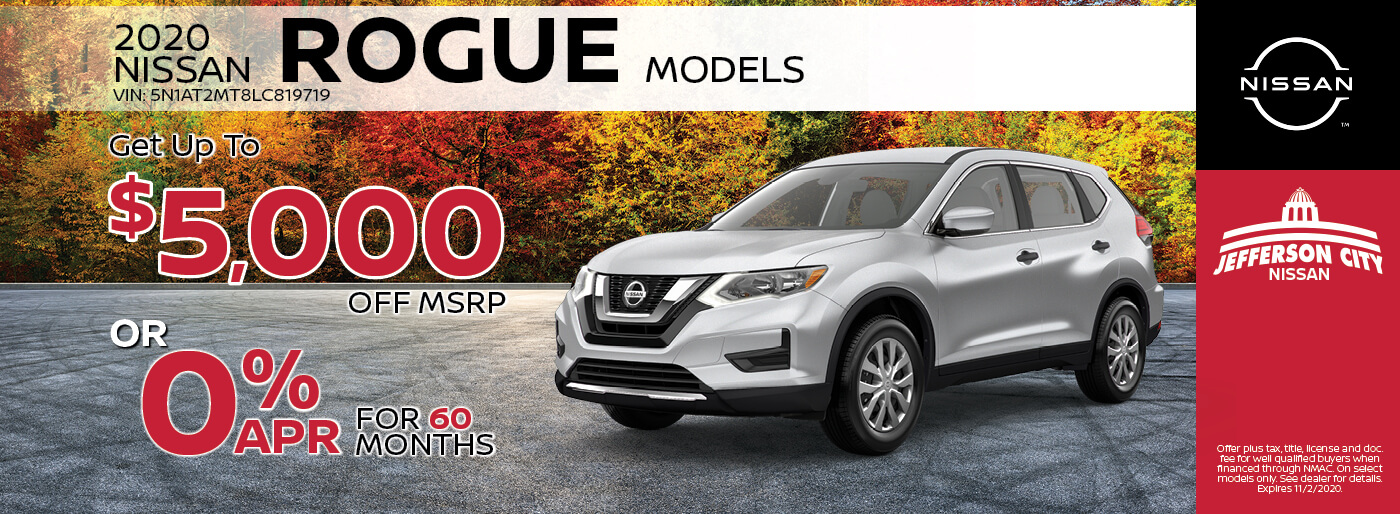 2020 Nissan Rogue | Get up to $5,000 off MSRP | Jefferson City, MO