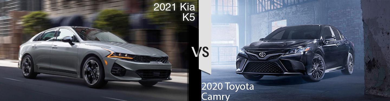 2021 Kia K5 vs 2020 Toyota Camry