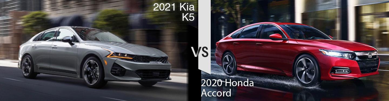 2021 Kia K5 vs 2020 Honda Accord