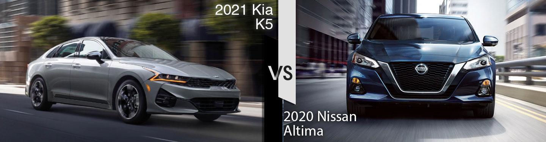 2021 Kia K5 vs 2020 Nissan Altima