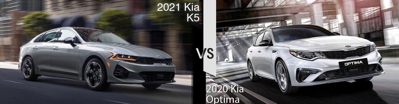 2021 Kia K5 vs 2020 Kia Optima