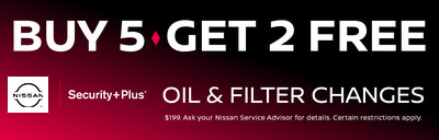 BUY 5 GET 2 FREE OIL & FILTER CHANGES
