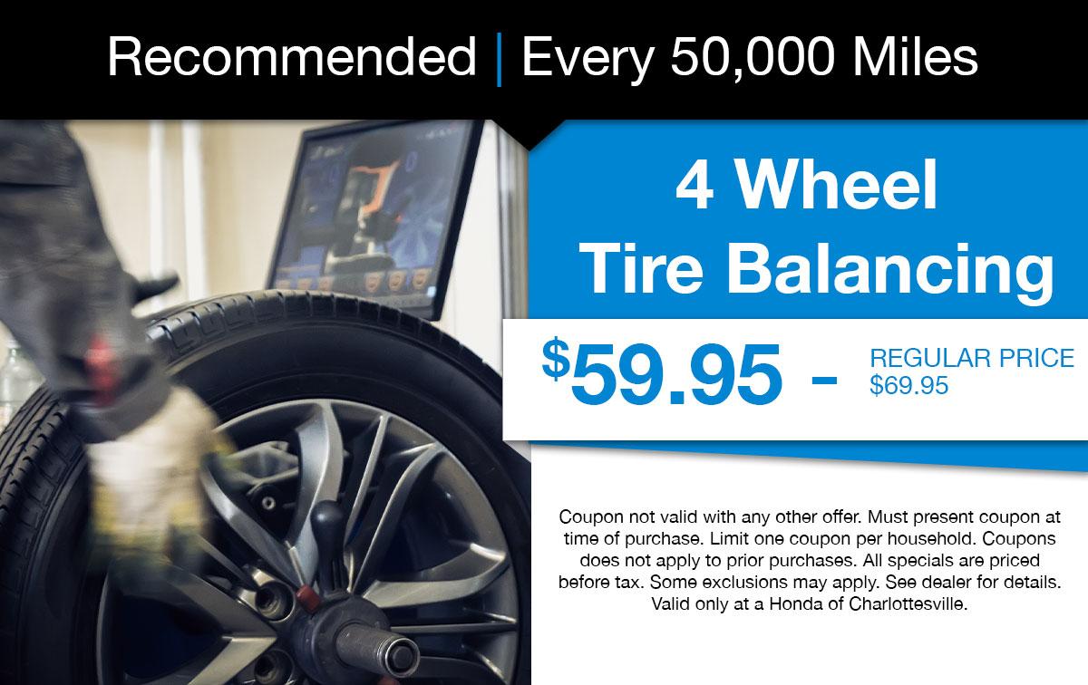 4 Wheel Tire Balancing