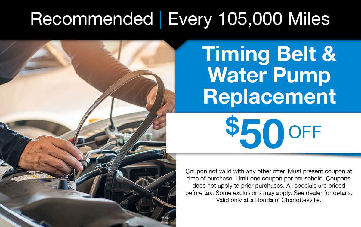 Timing Belt & Water Pump Replacement