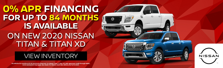 0% APR For Nissan Titan and Titan XD