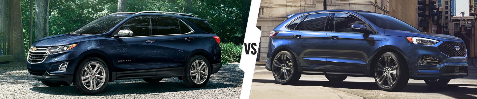 Crossover SUV Comparison: 2021 Chevrolet Equinox Versus 2020 Ford Edge