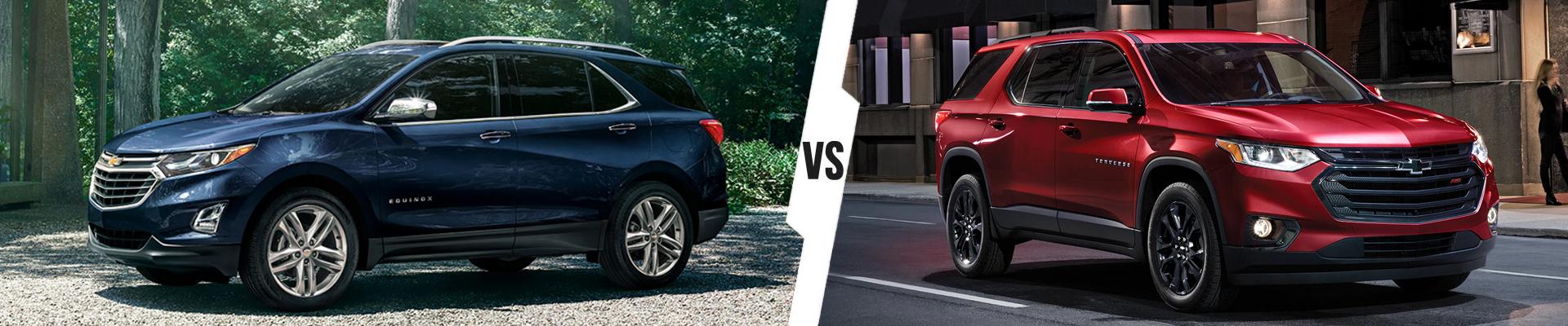 Chevrolet SUV Comparison: 2021 Chevrolet Equinox Versus 2020 Chevrolet Traverse