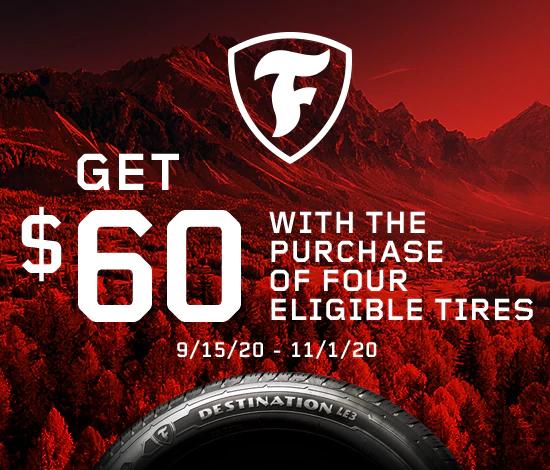 Firestone Tires - $60 Reward