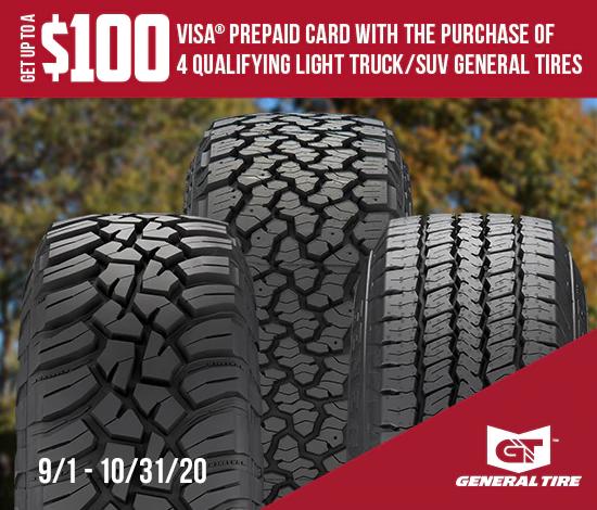 General Tire - Up to $100 Reward