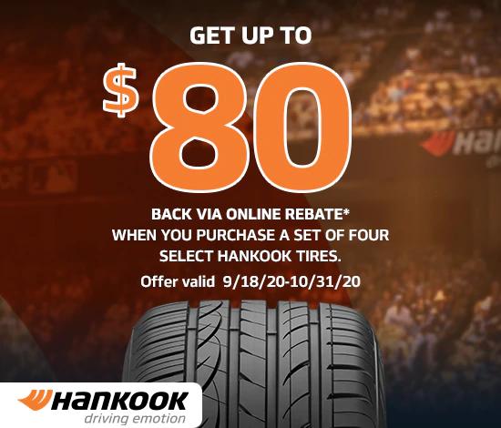 Hankook Tires - Up to $80 Rebate
