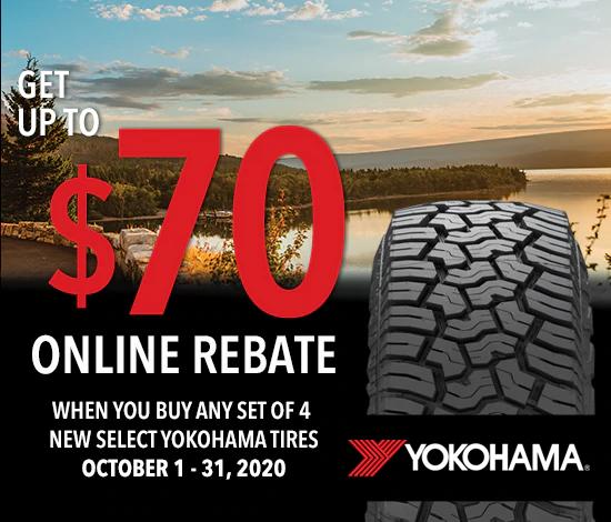 Yokohama Tires - Up to $70 Rebate