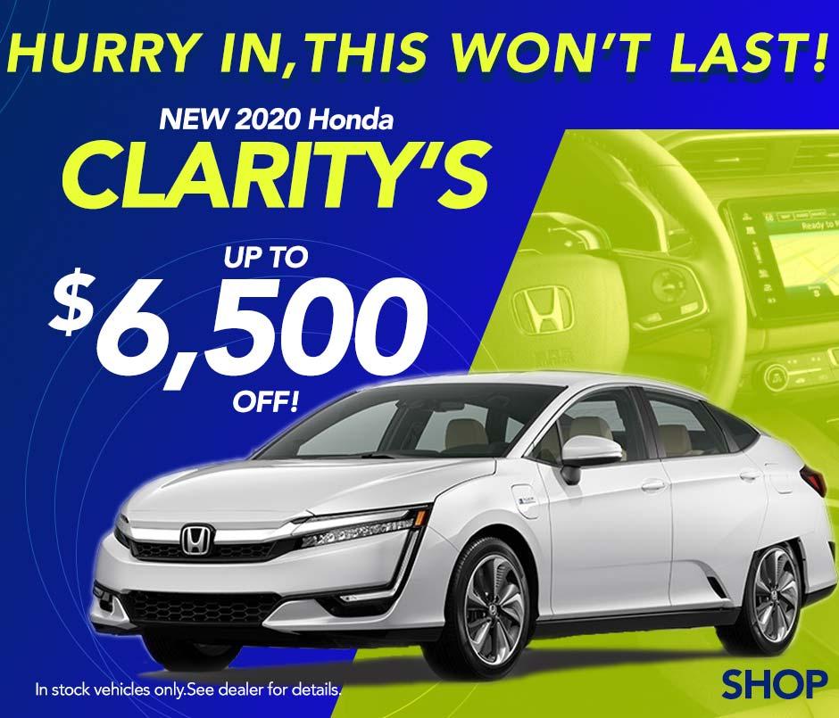 Save on 2020 Honda Claritys