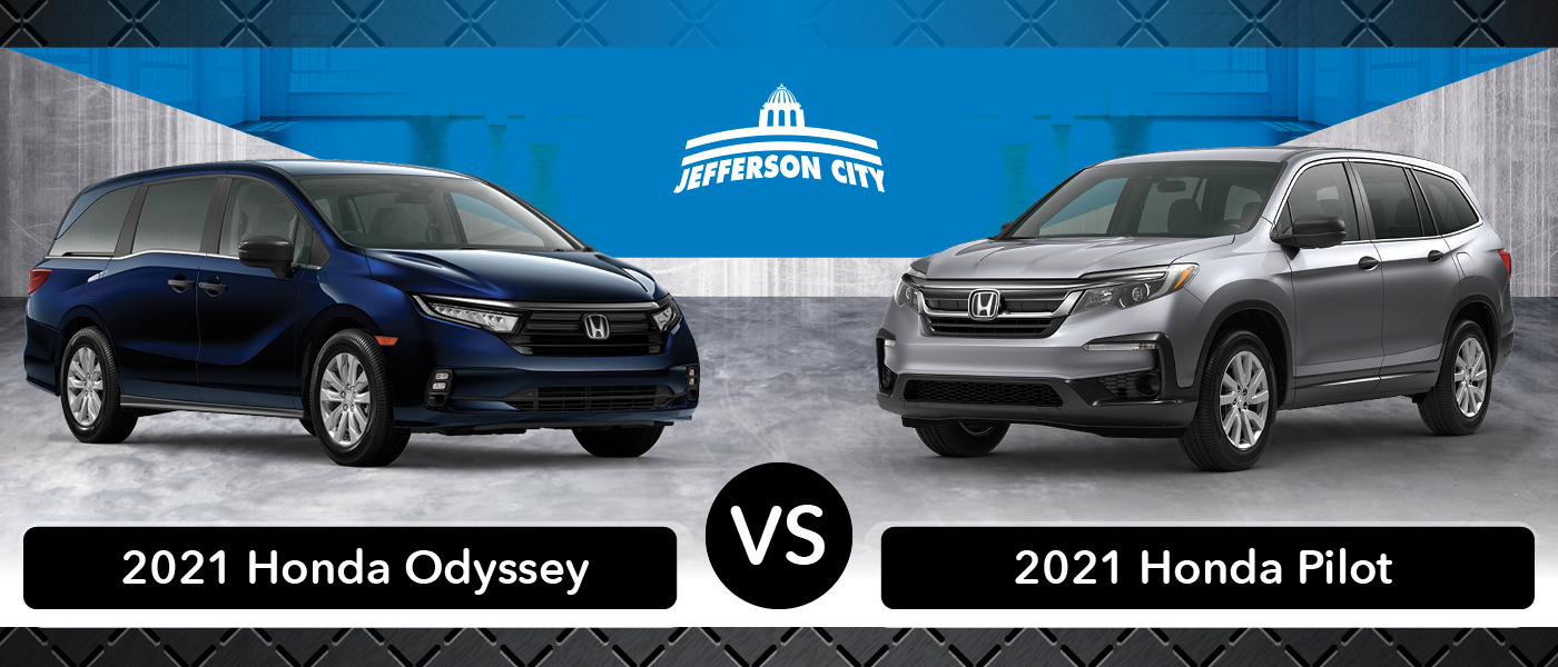 2021 Honda Odyssey vs. 2021 Honda Pilot