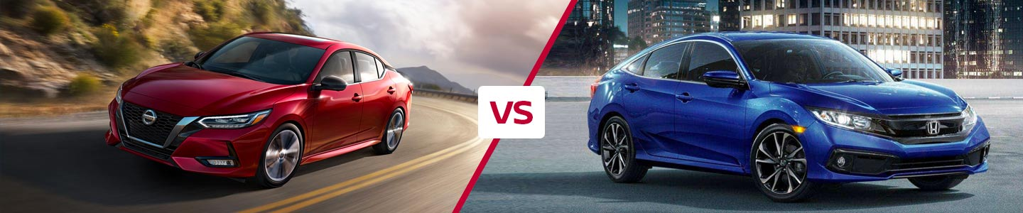 Compare the 2020 Nissan Sentra and 2020 Honda Civic in Fremont, CA