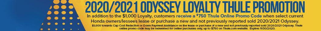 2020/2021 Odyssey Loyalty Thule Promotion