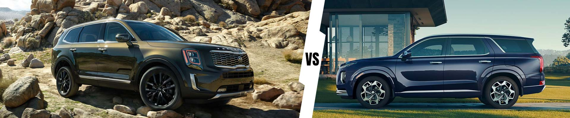 Three-Row SUV Comparision: 2021 Kia Telluride Vs. 2021 Hyundai Palisade