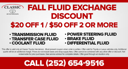 Fall Fluid Exchange Discount