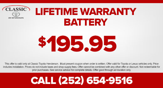 Lifetime Warranty Battery