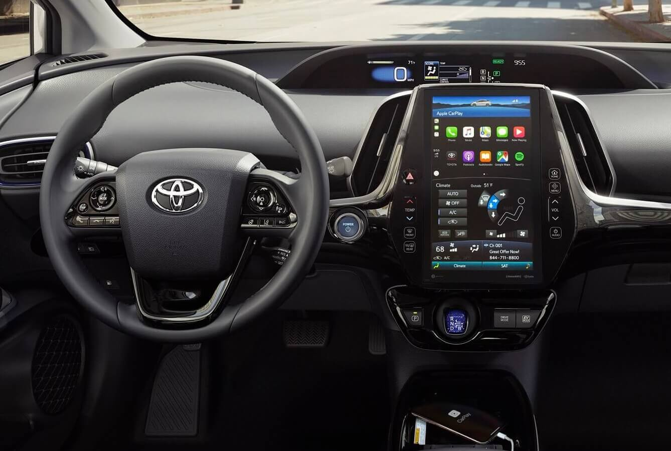 Toyota Prius Interior with Apple CarPlay®