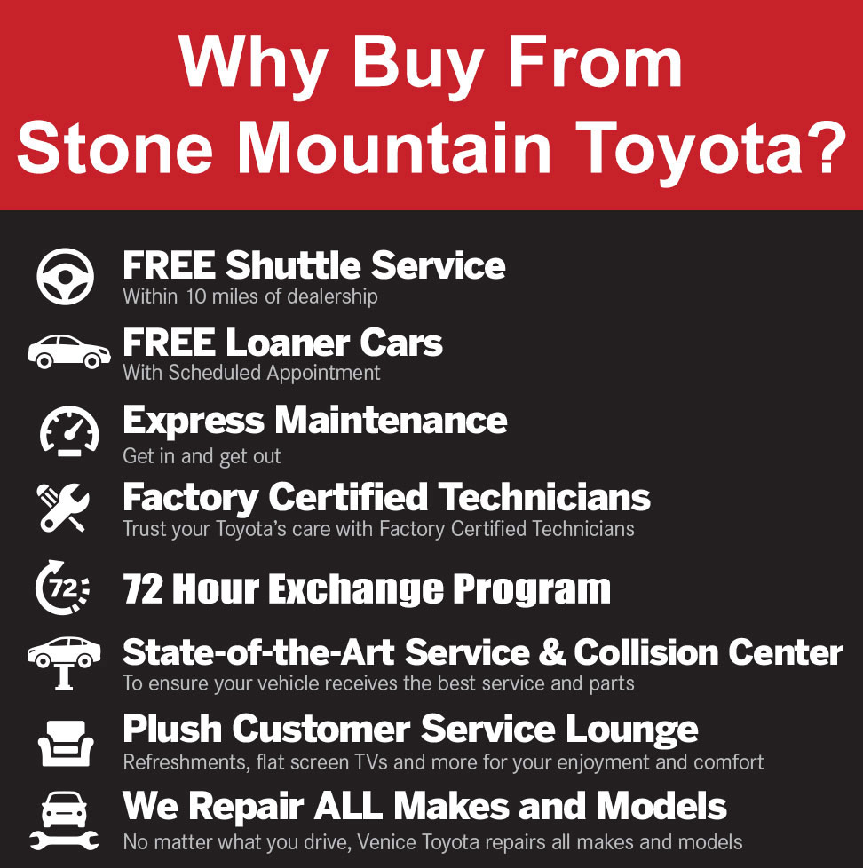 Why Buy from Stone Mountain Toyota?