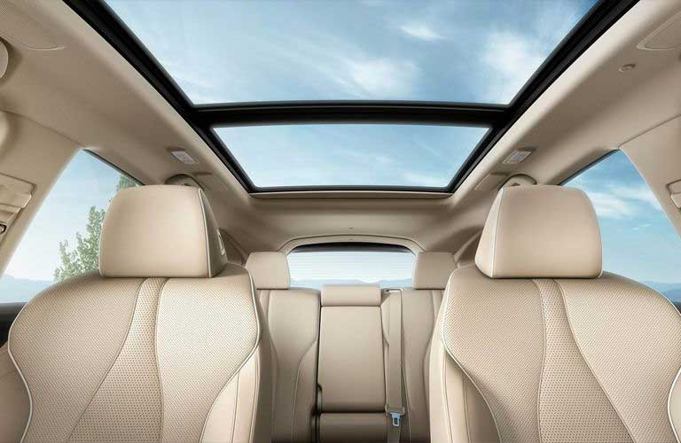 View from front row showing the seats and sunroof in the 2019 Acura RDX