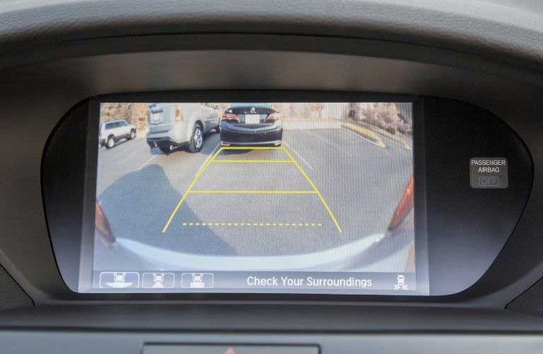 Close up of the rearview camera in the 2015 Acura TSX