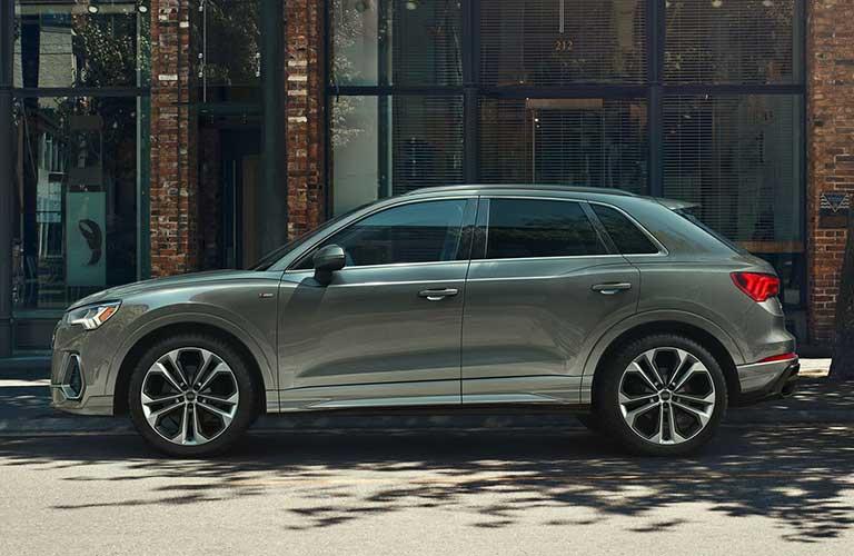 2020 Audi Q3 silver side view