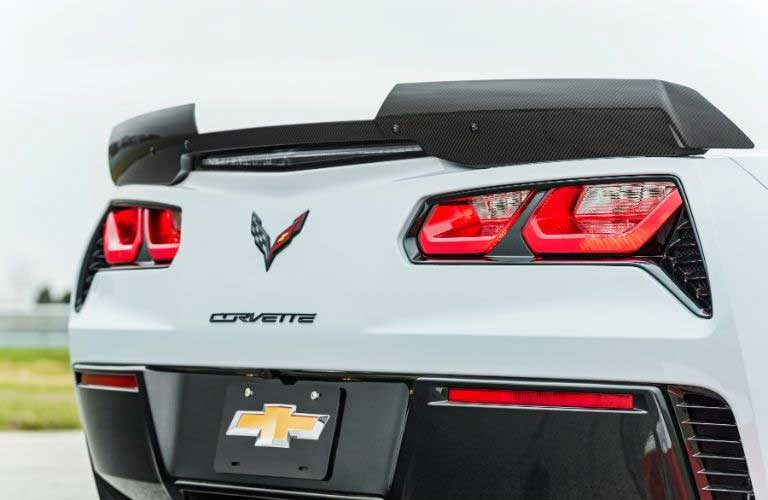 Chevy Corvette rear profile and tail lights