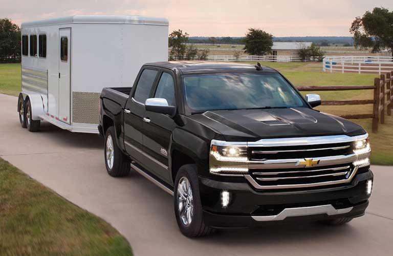 Chevy Silverado 1500 pulling a trailer