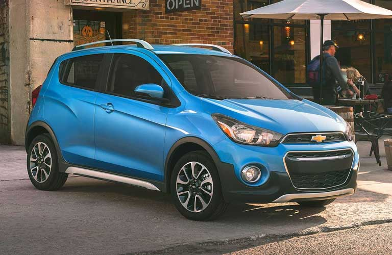 Chevrolet Spark parked on a street