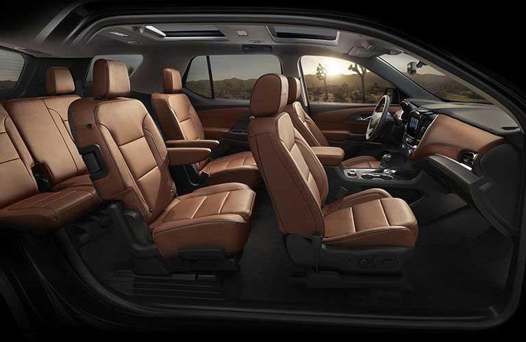 Chevy Traverse interior passenger seats