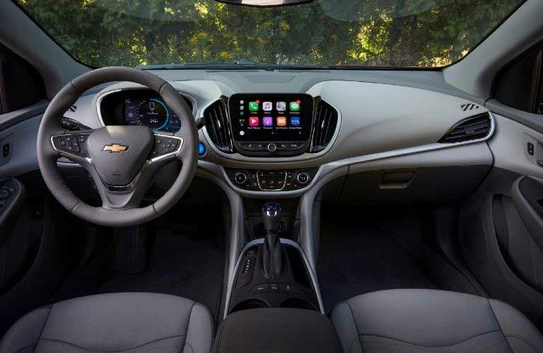 Front interior in the 2019 Chevy Volt