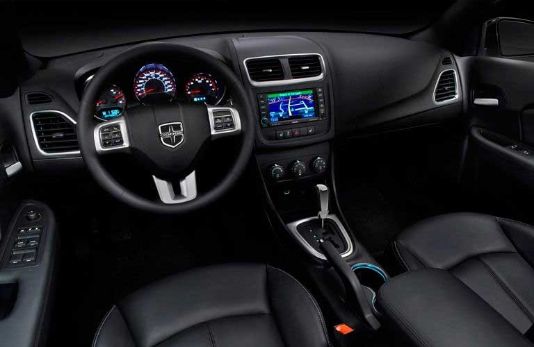 Dodge Avenger dashboard and steering wheel