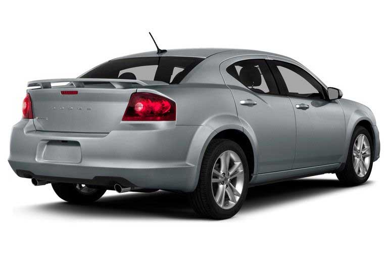Dodge Avenger side and rear profile