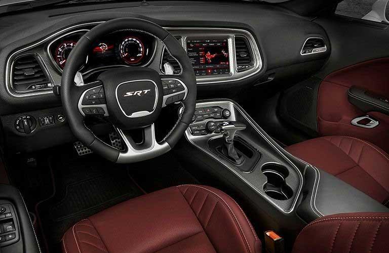 Dodge Challenger dashboard and steering wheel