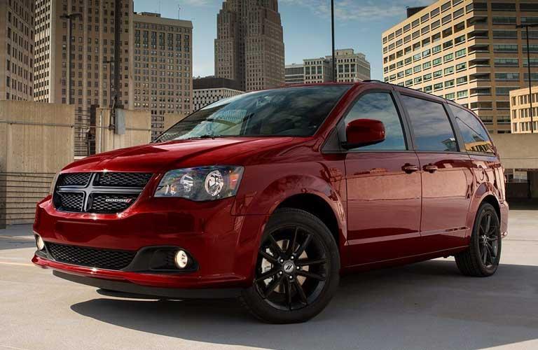 Dodge Grand Caravan parked showing side profile
