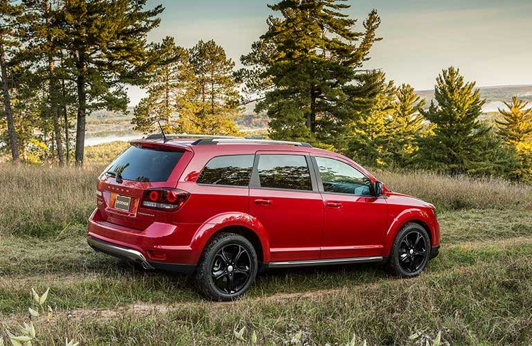 Dodge Journey driving on an off-road trail