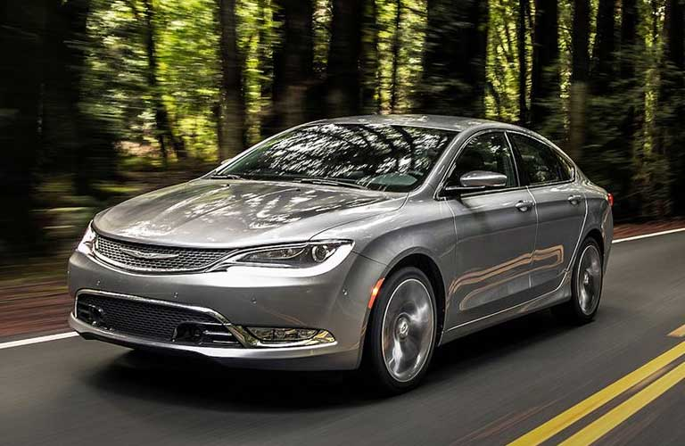 Chrysler 200 driving on a road