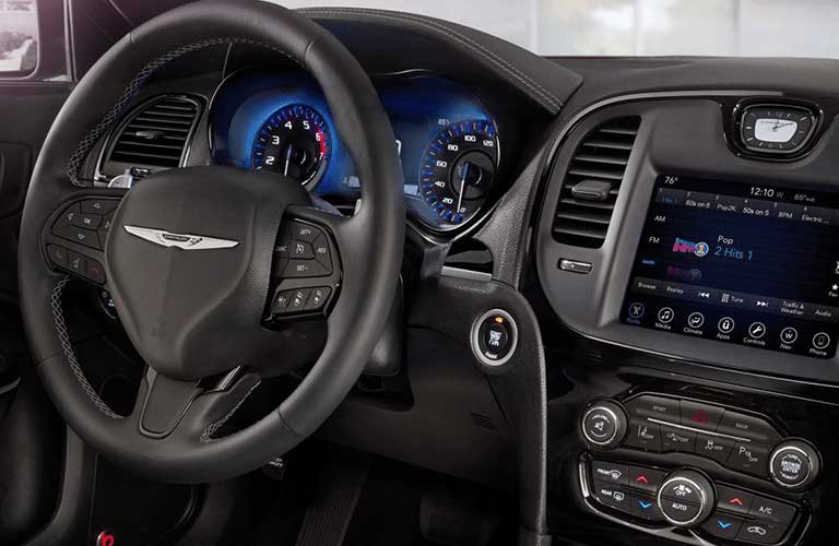 Chrysler 300 dashboard and steering wheel