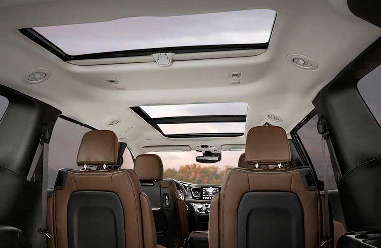 Chrysler Pacifica interior seats and sunroof