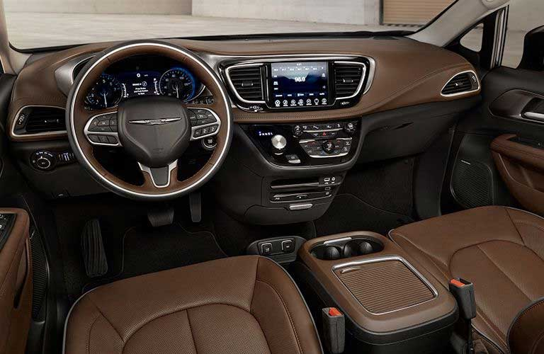 Chrysler Pacifica dashboard and steering wheel