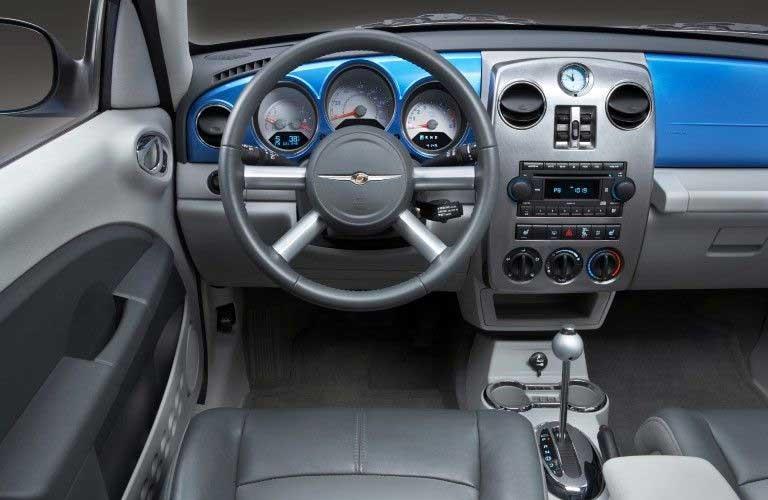Steering wheel inside the 2009 Chrysler PT Cruiser