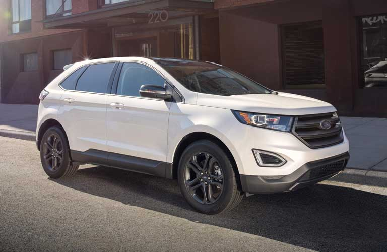 Ford Edge parked on side of a road
