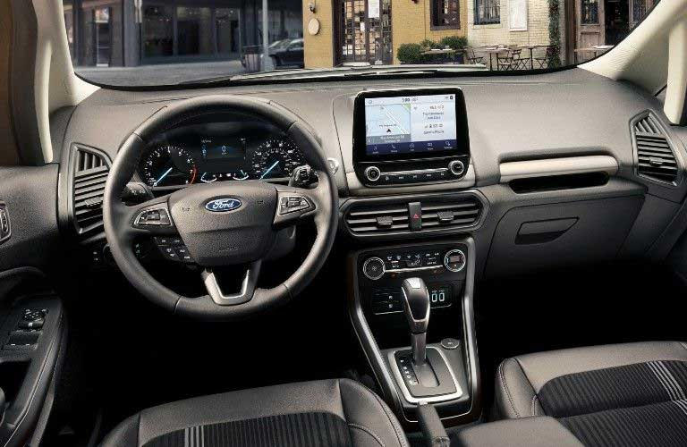 Front interior in the 2020 Ford EcoSport