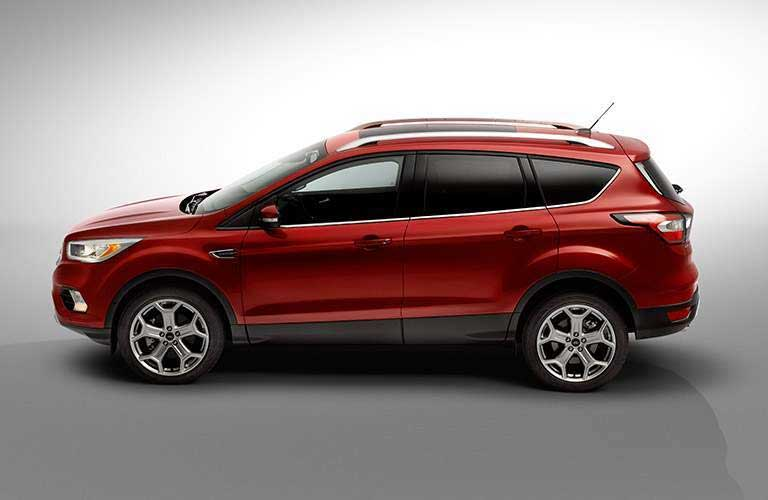 Side profile of the 2017 Ford Escape in a gray room